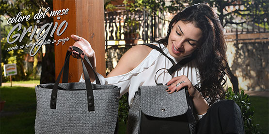joy moda vegana borse componibili post grigio