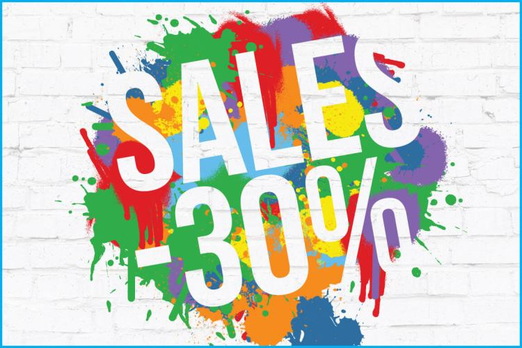 Sales 2020, 30% discount on our collection