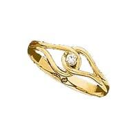 14k Gold Diamond Promise Ring JJ60347 | Joy Jewelers
