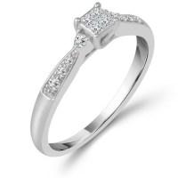 10k White Gold 1/6 ct tw Diamond Promise Ring PT1722ER ...
