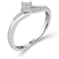 10k White Gold 1/8 ct tw Diamond Promise Ring PT4132ER ...