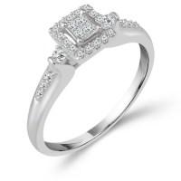 10k White Gold 1/5 ct tw Diamond Promise Ring PT8452ER ...