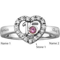 Quinceanera Ring with Custom Stones | Joy Jewelers