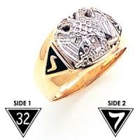 32nd Degree Scottish Rite Consistory Ring - 10k Gold MAS2348SR