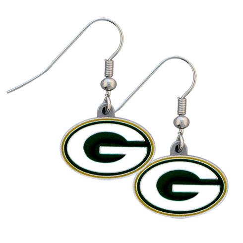 Green Bay Packers NFL Dangling Earrings GM2611