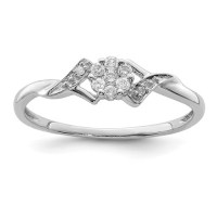 Sterling Silver 1/8ct Diamond Promise Ring QR3428 | Joy ...