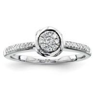 1/6ct Diamond Bezel Promise Ring QR4033 | Joy Jewelers