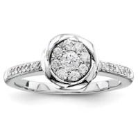 1/4ct Diamond Bezel Promise Ring QR4035 | Joy Jewelers