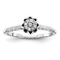 1/4ct Diamond Crown Promise Ring QR4037 | Joy Jewelers