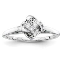 1/6ct Princess Diamond Promise Ring QR4041 | Joy Jewelers
