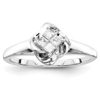 1/5ct Princess Diamond Promise Ring QR4042 | Joy Jewelers