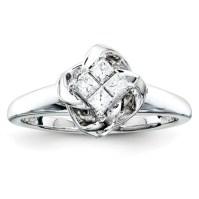 1/4ct Princess Diamond Promise Ring QR4043 | Joy Jewelers