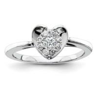 1/5ct Diamond Heart Promise Ring QR4049 | Joy Jewelers