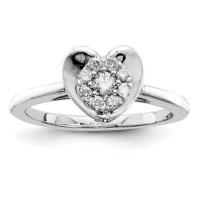 1/4ct Diamond Heart Promise Ring QR4050 | Joy Jewelers
