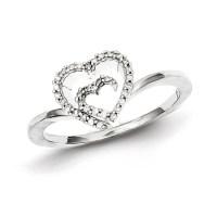 1/10ct Diamond Heart Promise Ring QR5623 | Joy Jewelers