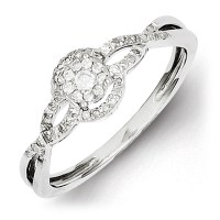 Sterling Silver 1/5ct Diamond Fancy Promise Ring QR5777 ...