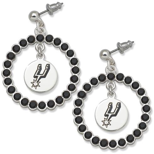 San Antonio Spurs Spirit Crystal Logo Earrings SPU067ER-CR