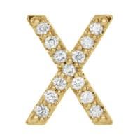 14k Yellow Gold Diamond Initial X Earring JJ86797YX | Joy ...