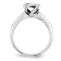 1/5ct Diamond Bezel Promise Ring QR4034 | Joy Jewelers