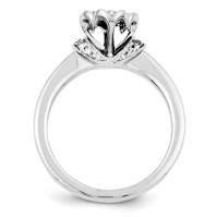1/3ct Diamond Open Heart Promise Ring QR4063 | Joy Jewelers