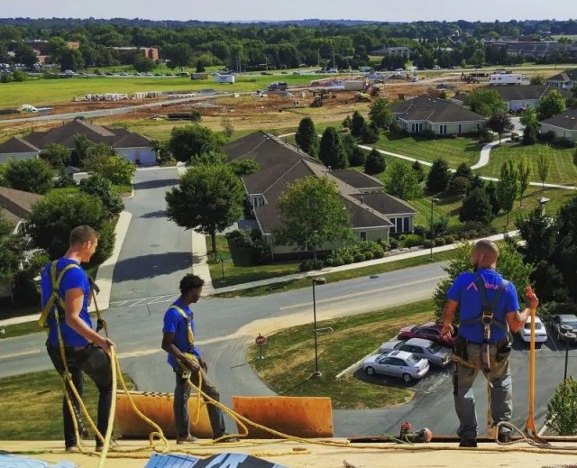 Crew Working Joyland Roofing