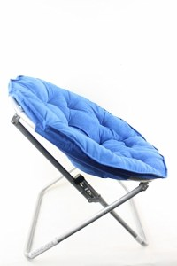 Microsuede Folding Saucer Chair Adult Foldable Chairs