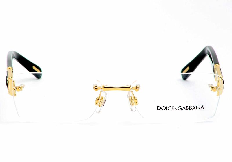 Dolce & Gabbana Eyeglasses 1210 D&G Gold/Black Optical Frame