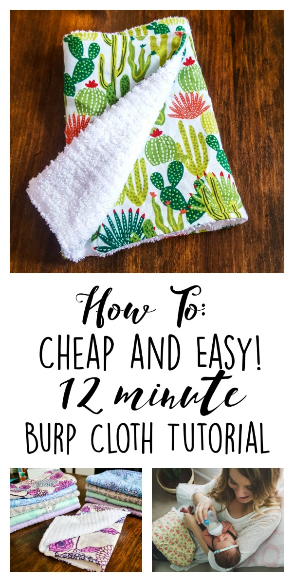How To Cheap And Easy 12 Minute Burp Cloth Tutorial Life With The