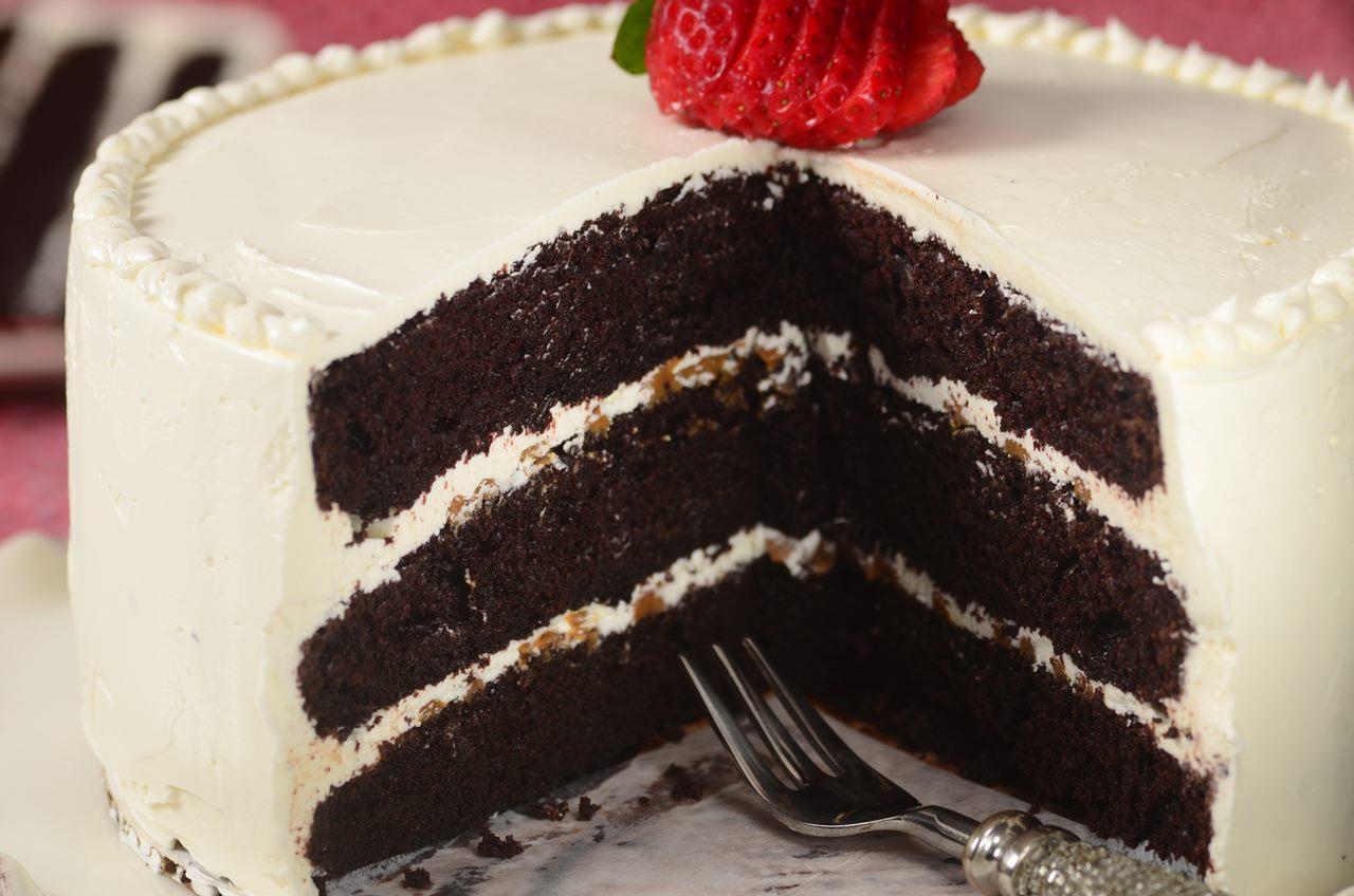 Chocolate Cake With Swiss Buttercream