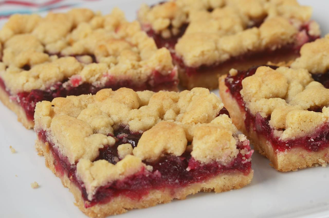 Cranberry Shortbread Bars Video Recipe