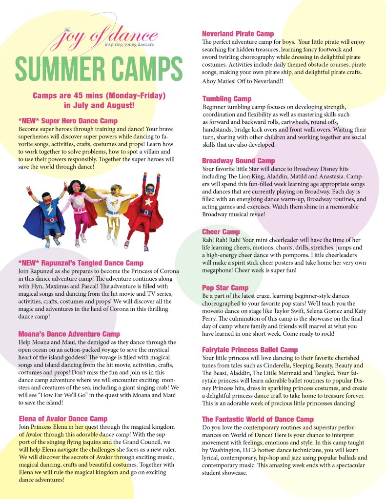 Summer Camps | Joy of Dance