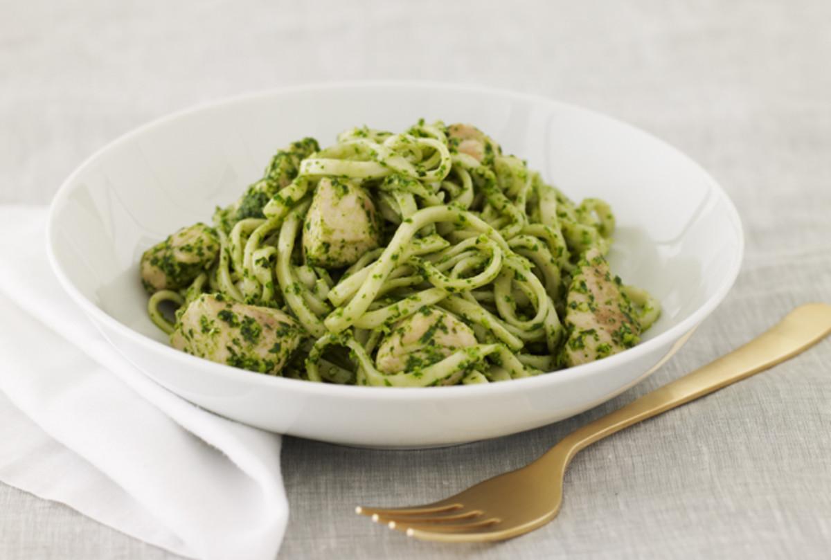 Pesto Pasta with Chicken  Jamie Geller