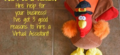 Don't Be A Turkey! 3 Good Reasons To Hire A Virtual Assistant!