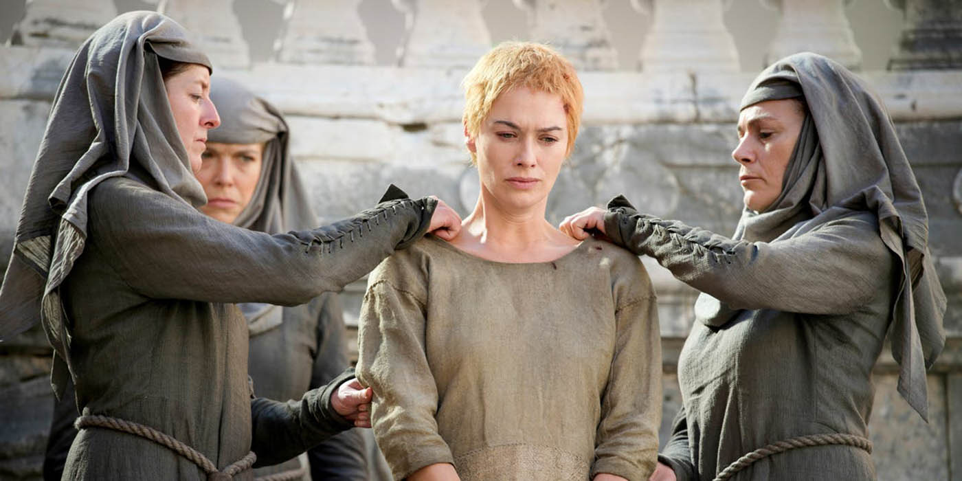 Cersei Lannister Game of Thrones walk of shame