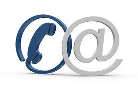immagine che raffigura un telefono e la chiocciola della mail per dare i riferimenti dei nostri contatti