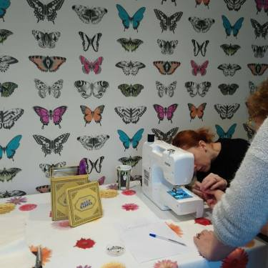 sewing lesson sewing machine learning