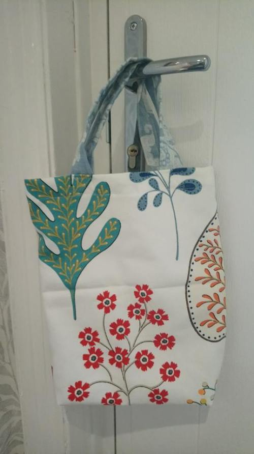 small canvas flower shopping bag