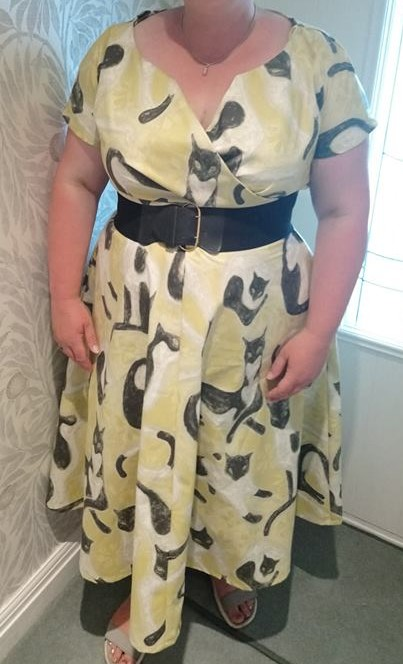 1950' vintage style cat dress
