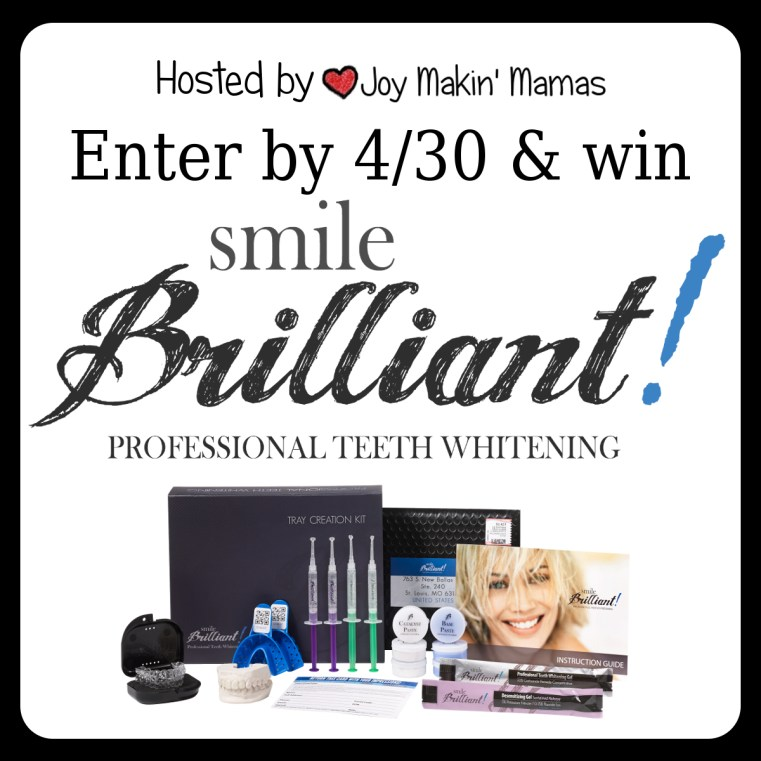 smile brilliant giveaway ends 4/30 Joy Makin' Mamas