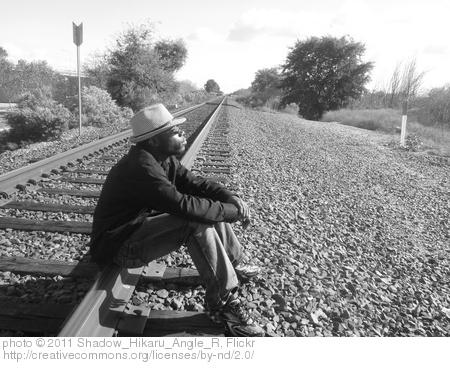 man on tracks
