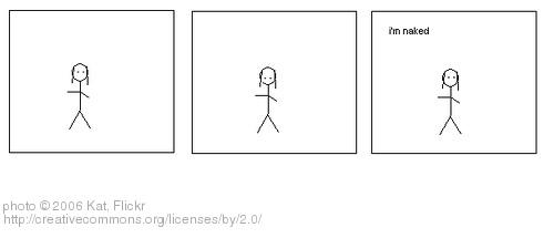 """""""I'm naked"""" cartoon"""