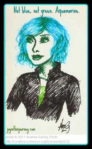 aqua hair sketch