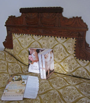 photo of Nora Roberts' The Bride Quartet books