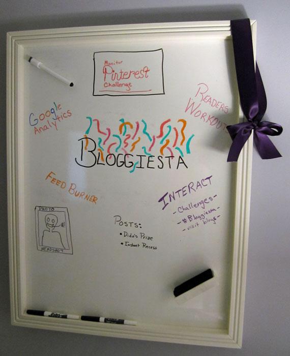 photo of Bloggiesta To Do List on White Board