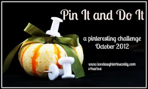 October Pin it Do it a Pinteresting Challenge logo