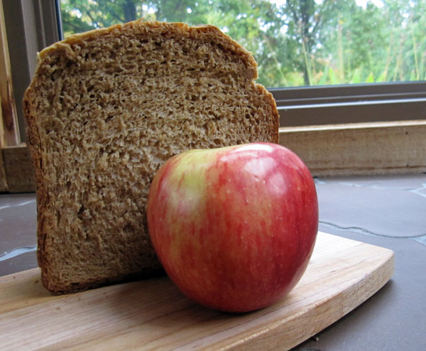 photo of apple and applesauce bread