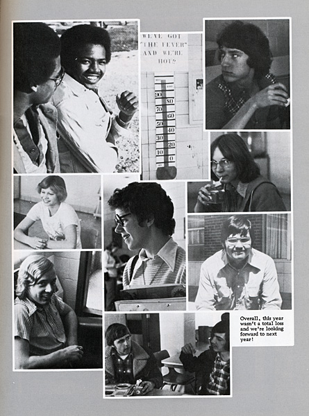 scan of Sophomore candid photos from 1978 Alamo Year book