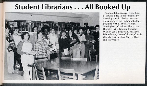 scan of the Student Librarians