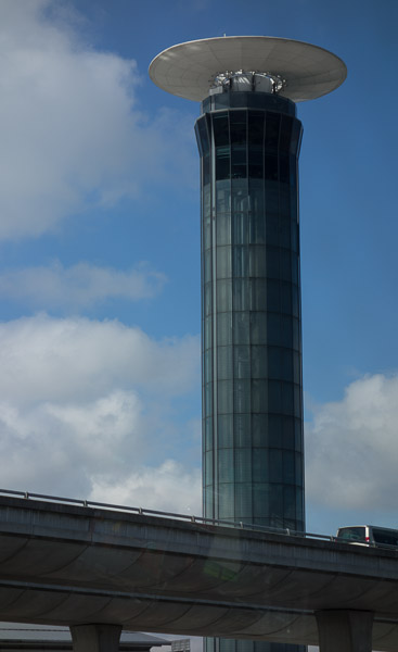 Photo of air traffic control tower, Charles de Gaulle Airport, Paris, France