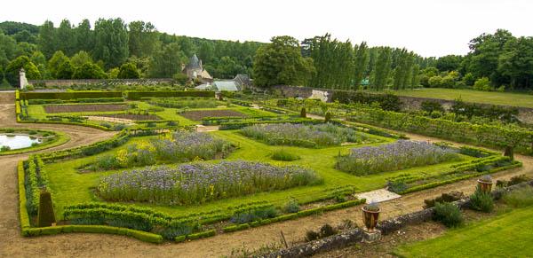 Photo of the potager at Chateau de Valmer